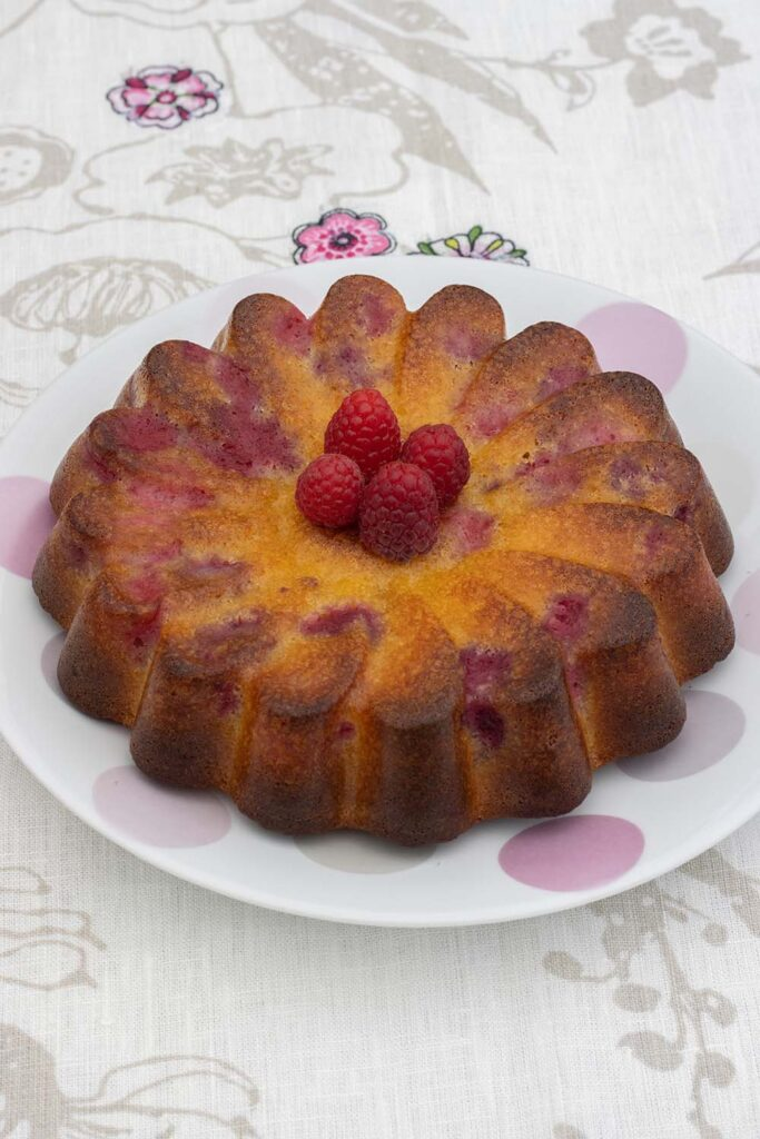 Gâteau chocolat blanc et framboises moule marguerite Demarle Flexipan 2