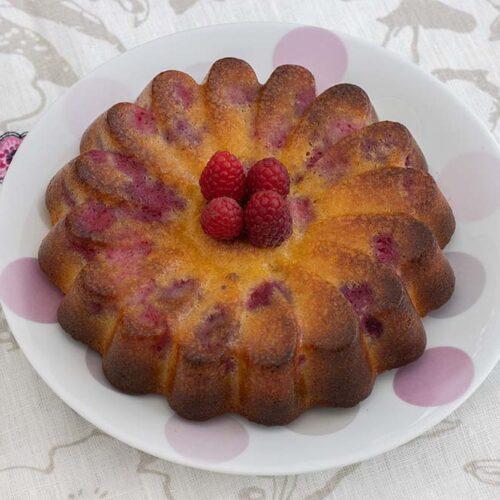 Gâteau chocolat blanc et framboises moule marguerite Demarle Flexipan