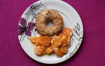 Pain de viande de poulet à l'italienne donuts Demarle Flexipan