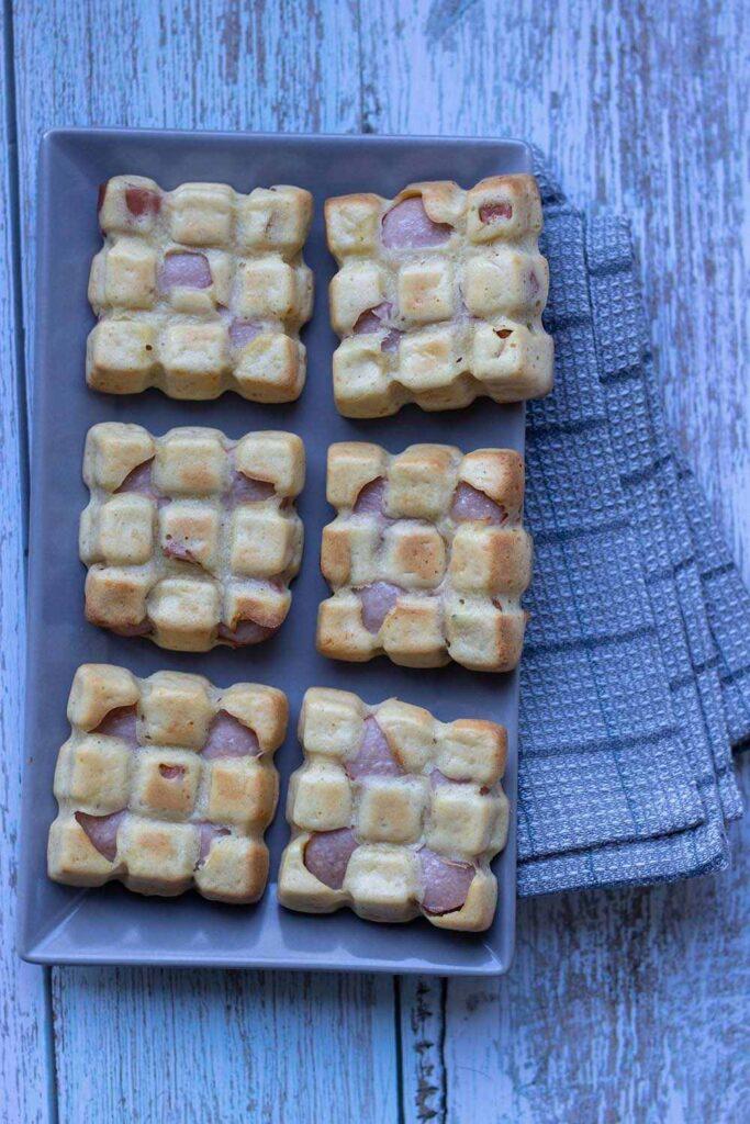 Petites tablettes à la saucisse petites tablettes Demarle Flexipan 1