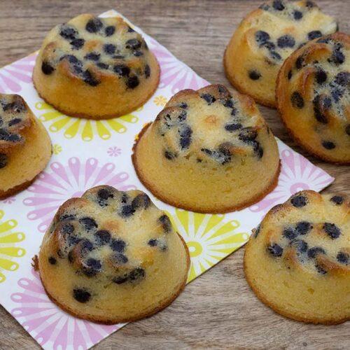 Petits moelleux au citron et aux pépites de chocolat petites marguerites Demarle Flexipan