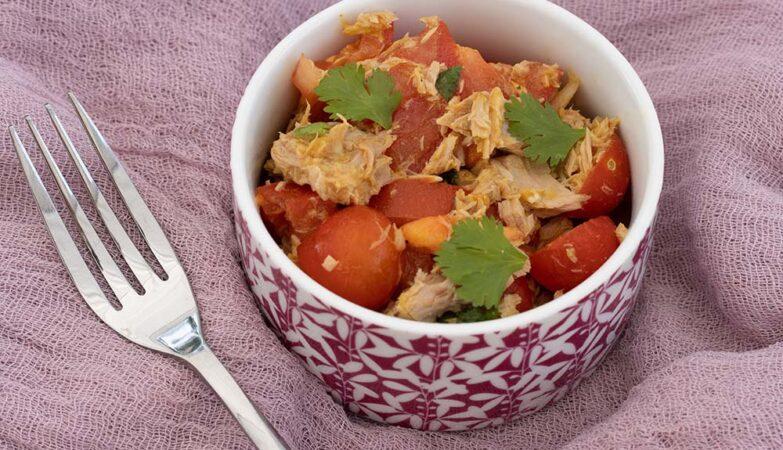 Salade de tomates au thon à la mauricienne 2