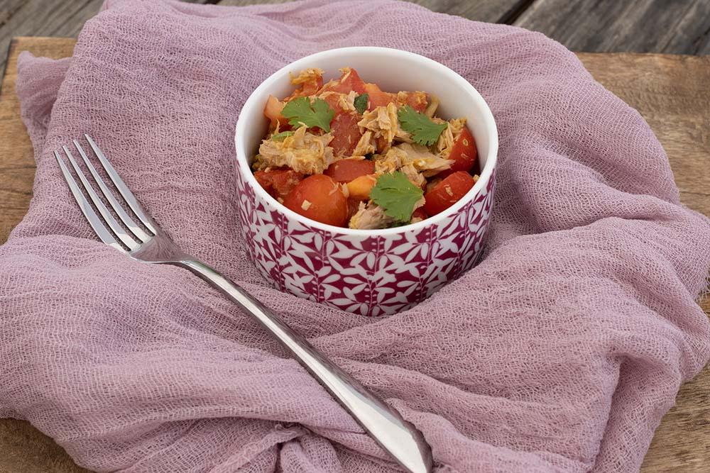 Salade de tomates au thon à la mauricienne