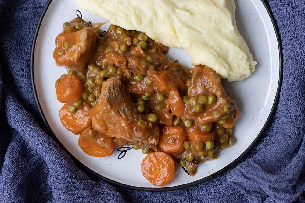Sauté de veau aux petits pois carottes 2