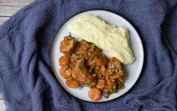Sauté de veau aux petits pois carottes