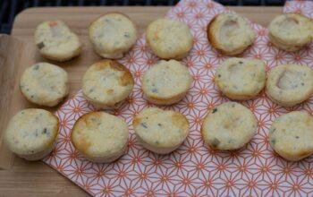 Bouchées au surimi et au fromage ail et fines herbes petits fours Demarle Flexipan