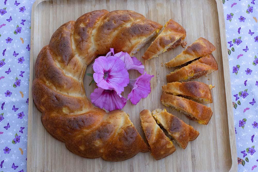 Cake au chorizo et maïs