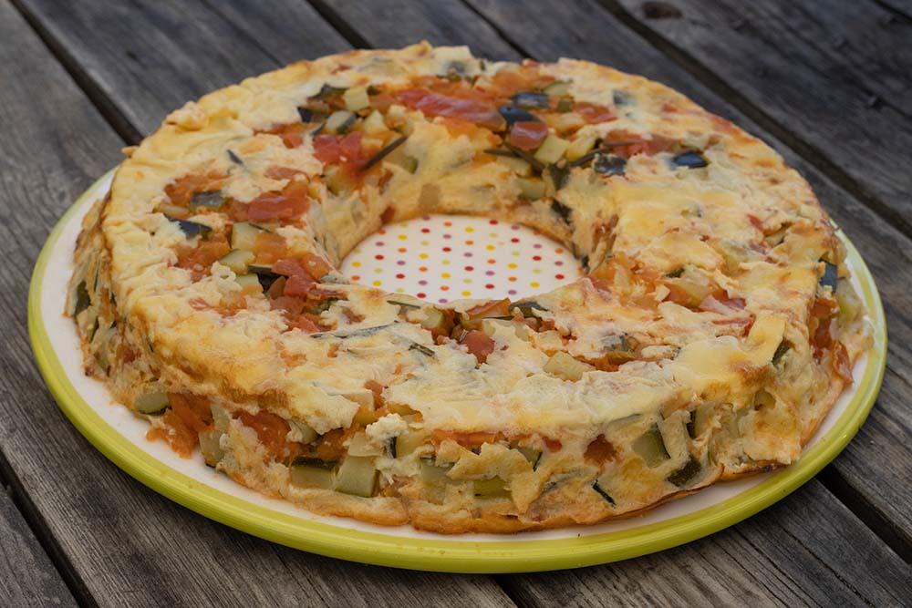 Clafoutis courgettes tomates mozzarella