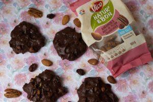 Cookies brownies amandes noix de pécan et cranberries 1