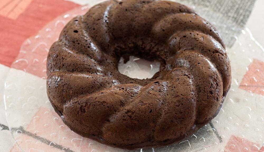 Moelleux chocolat courgettes (sans beurre) moule couronne torsadée Demarle Flexipan