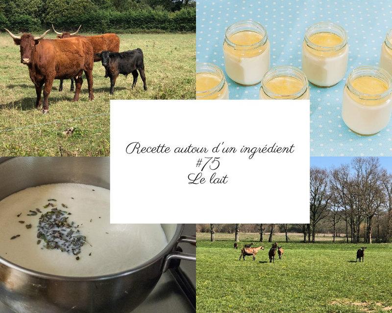 recette autour d un ingrédient le lait