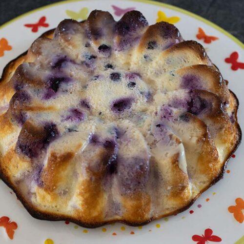 Gâteau fromage blanc et myrtilles