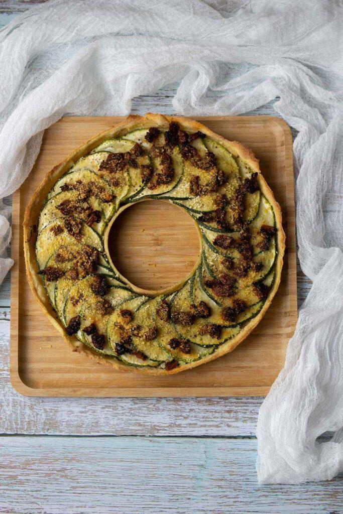 Tarte couronne courgettes, moutarde à l'ancienne tarte couronne Demarle Flexipan 1