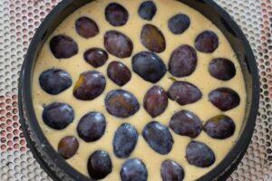 Gâteau aux prunes de Paul Bocuse moule rond Demarle Flexipan 1