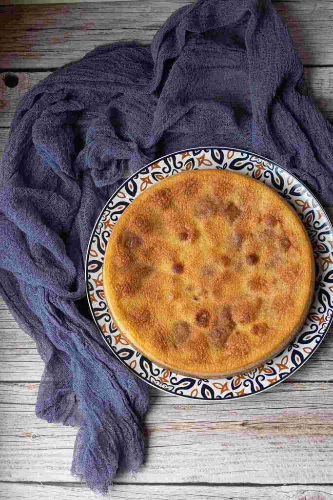 Gâteau aux prunes de Paul Bocuse moule rond Demarle Flexipan 5