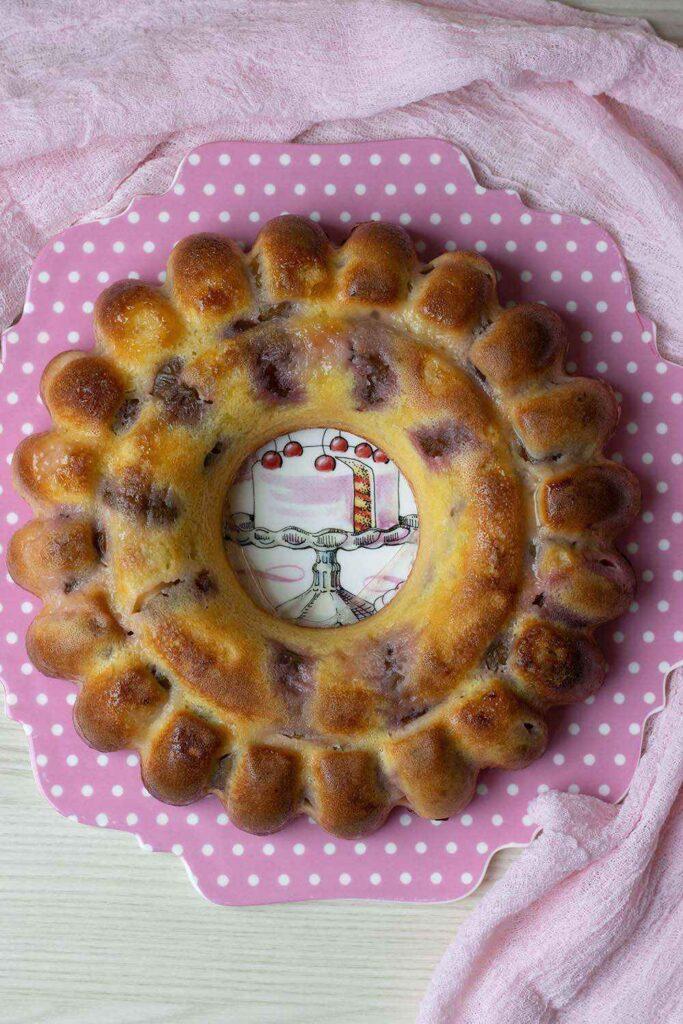 Gâteau lorrain aux quetsches moule savarin cannelé Demarle Flexipan 2