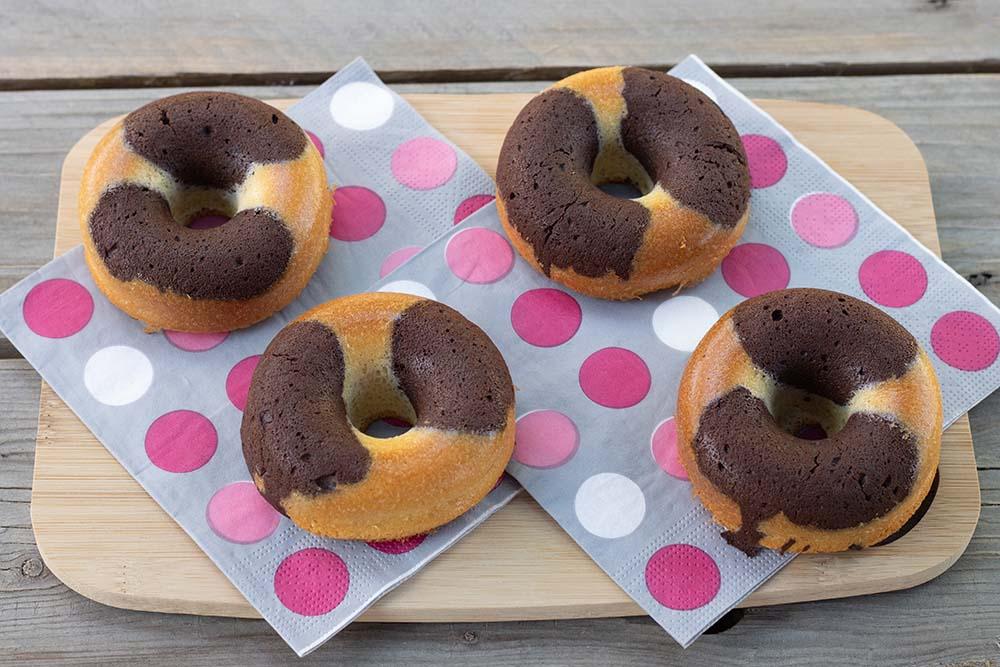 Marbrés chocolat vanille façon Donuts St Michel