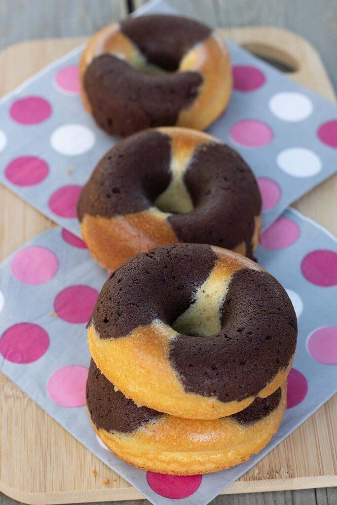 Marbrés chocolat vanille façon Donuts St Michel empreinte Donuts Demarle Flexipan 3