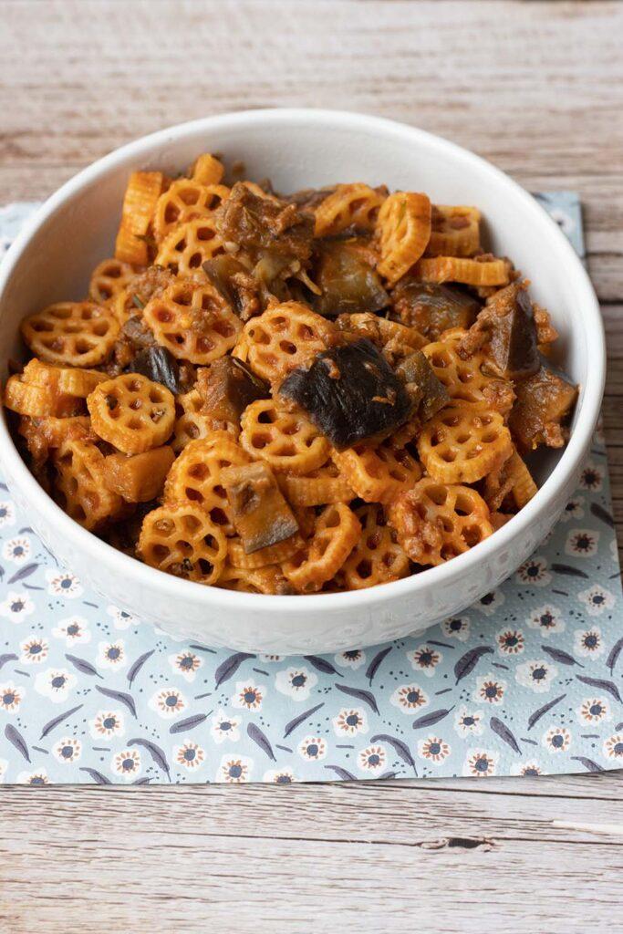 Pâtes et aubergine à la sauce tomate (au Cookeo ou sans) 2