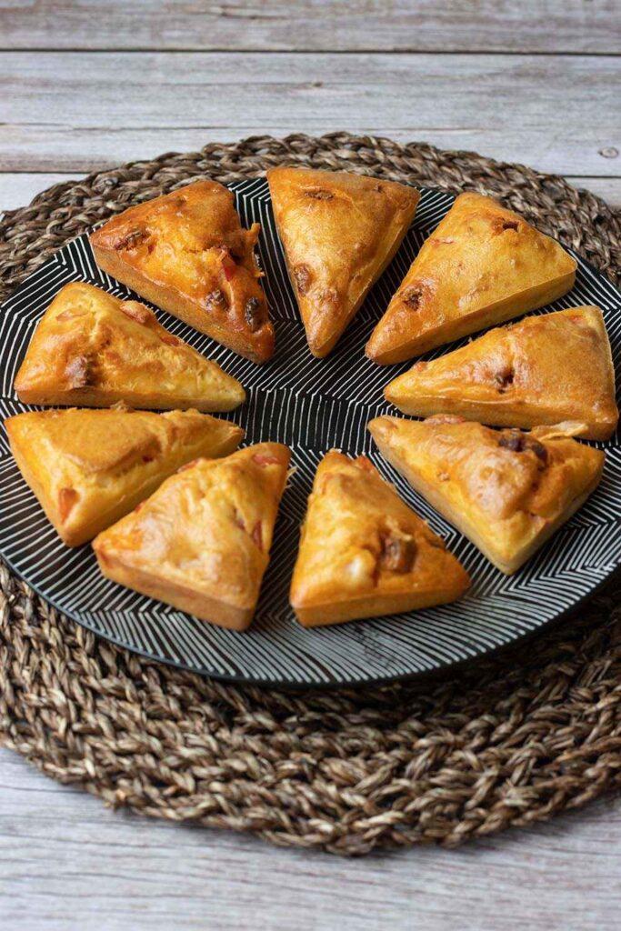 Petits cakes chorizo et poivron empreinte Triangles Demarle Flexipan 2