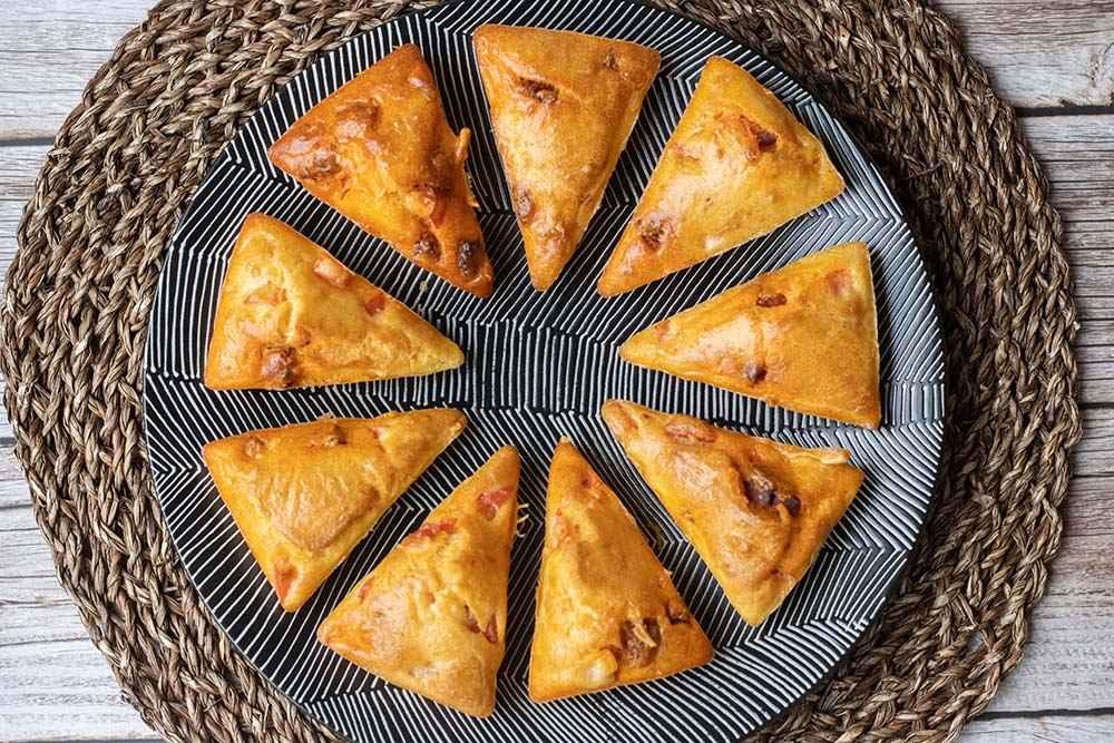 Petits cakes chorizo et poivron