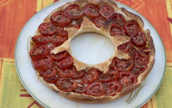 Tarte couronne à la tomate moule tarte couronne Demarle Flexipan