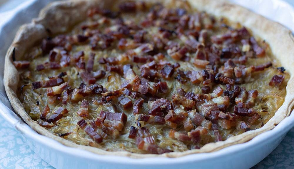 Zwiebelkueche (tarte à l'oignon alsacienne)