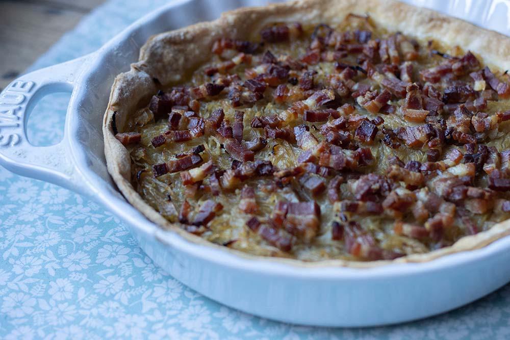 Zwiebelkueche (tarte à l'oignon alsacienne) 5