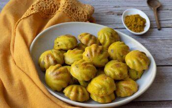 Bouchées poulet curry et raisins secs coquilles Demarle Flexipan Apero