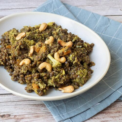 Curry de brocolis aux lentilles (au Cookeo ou sans)