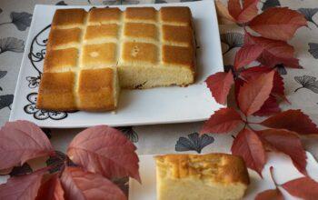 Gâteau moelleux aux pommes et au rhum moule tablette Demarle Flexipan
