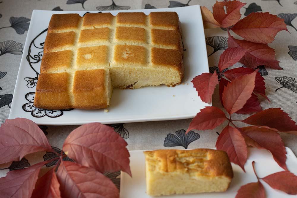 Gâteau moelleux aux pommes et au rhum