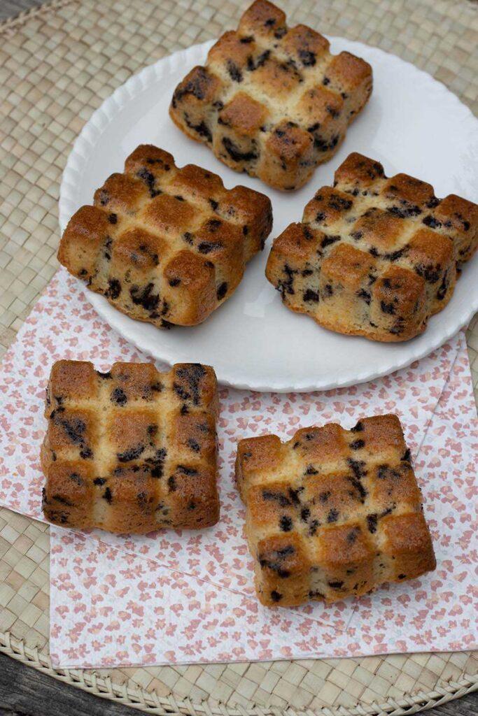 Petits gâteaux moelleux aux vermicelles petites tablettes Demarle Flexipan 1