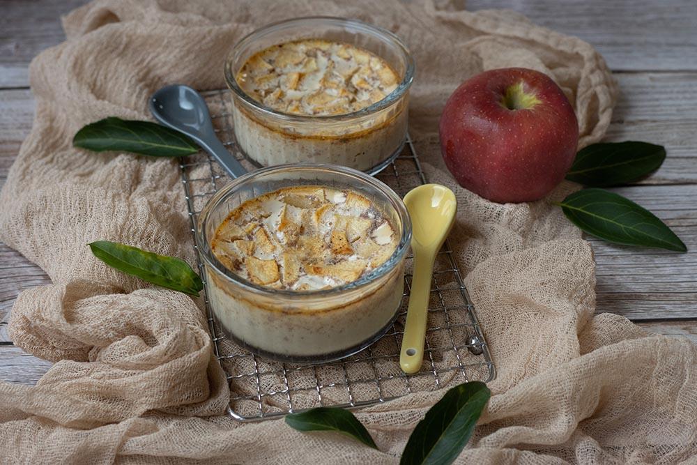 Petits pots de crème pomme et cannelle