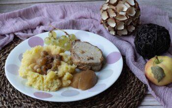 Rôti de porc aux raisins et au cidre